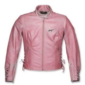 alpinestars pink stella leather motorcycle jacket